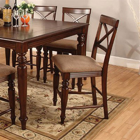 Shop Furniture Of America Myrtle Beach Iv Dark Oak Counter Stool At