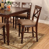Furniture of America Myrtle Beach IV Dark Oak 24.25-in Counter Stool