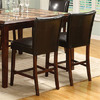 Furniture of America Raven Espresso 26.25-in Counter Stool