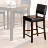 Furniture of America Hampton Dark Walnut 25.5-in Counter Stool