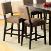 Furniture of America Bay Side Espresso 26.5-in Bar Stool