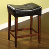 Furniture of America Rockford Dark Oak 25-in Counter Stool