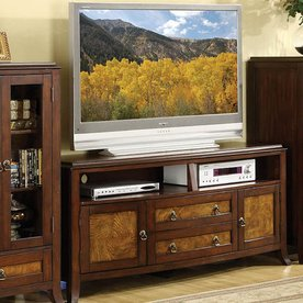 Furniture of America Kassandra Brown Cherry/Oak Television Stand