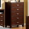 Furniture of America Enrico Brown Cherry 5-Drawer Dresser