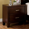 Furniture of America Enrico Brown Cherry Birch Nightstand