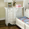 Furniture of America Alexandra Pearl White Composite Nightstand