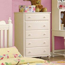 Furniture of America Adriana White 5-Drawer Dresser