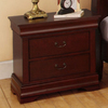 Furniture of America Laurelle Dark Cherry Birch Nightstand