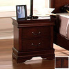 Furniture of America Louis Philippe Dark Cherry Birch Nightstand