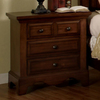 Furniture of America Palm Coast Cherry Oak Birch Nightstand