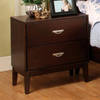 Furniture of America Crystal Lake Brown Cherry Birch Nightstand