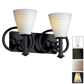 shop cascadia lighting 18 1 2 in w limoges heritage 2 light matte black arm wall sconce at. Black Bedroom Furniture Sets. Home Design Ideas