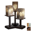 Cascadia Lighting 3-Way Dark Bronze Table Lamp with Mercury Glass Shade