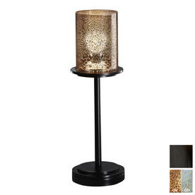shop cascadia lighting 3 way matte black touch table lamp with glass. Black Bedroom Furniture Sets. Home Design Ideas