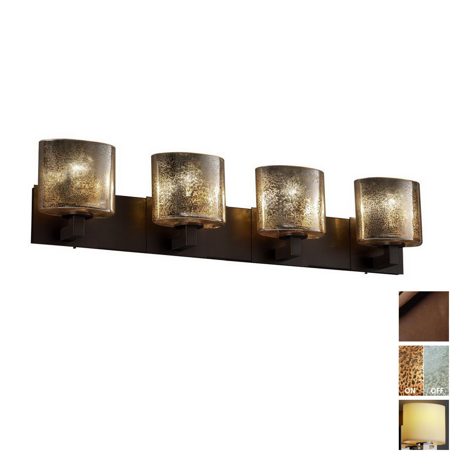 Vanity Lights For Bathroom Bronze : Shop Cascadia Lighting 4-Light Fusion Modular Dark Bronze Bathroom Vanity Light at Lowes.com