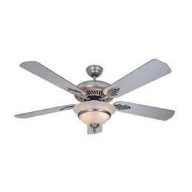 Cascadia Lighting 52-in Da Vinci Brushed Nickel Ceiling Fan with Light Kit