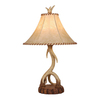 Cascadia Lighting Lodge 26-in 3-Way Noachian Stone Indoor Table Lamp with Fabric Shade