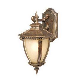 Cascadia Lighting Arles 14-1/2-in Gilded Umber Outdoor Wall Light