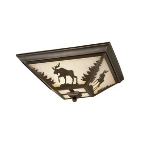 Cascadia Lighting Yellowstone 14-in W Burnished Bronze Ceiling Flush Mount Light