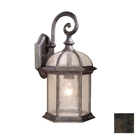 Cascadia Lighting Chateau 16-in Gold Stone Outdoor Wall Light
