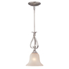 Cascadia Lighting 8-1/2-in W Monrovia Brushed Nickel Mini Pendant Light with Frosted Shade