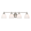Cascadia Lighting 4-Light Stockholm Brushed Nickel Bathroom Vanity Light