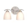 Cascadia Lighting 2-Light Avant Garde Chrome Bathroom Vanity Light