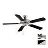 Cascadia Lighting 52-in Medallion Flash Silver Ceiling Fan ENERGY STAR