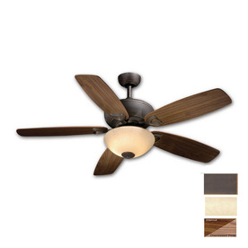 Cascadia Lighting 52-in Montreux Oil-Rubbed Bronze Ceiling Fan with Light Kit and Remote
