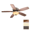 Cascadia Lighting 52-in Montreux Oil-Rubbed Bronze Ceiling Fan with Light Kit