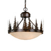 Cascadia Lighting 18.5-in W Burnished Bronze Semi-Flush Mount Light