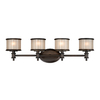 Cascadia Lighting 4-Light Carlisle Noble Bronze Bathroom Vanity Light