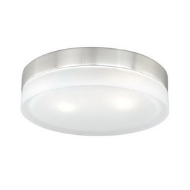 Cascadia Lighting 11-in W Satin Nickel Ceiling Flush Mount