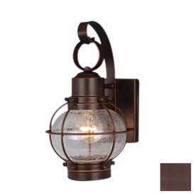 Cascadia Lighting Nautical 12-in Burnished Bronze Outdoor Wall Light