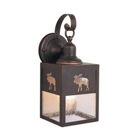 Cascadia Lighting Yellowstone 13-in Burnished Bronze Outdoor Wall Light