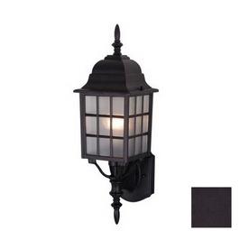 Cascadia Lighting Vista 19-in Textured Black Outdoor Wall Light