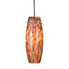 Cascadia Lighting Milano 3.875-in W Satin Nickel Art Glass Mini Pendant Light