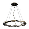 Trend Lighting 8-Light Halo Polished Stainless Steel Chandelier