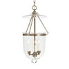 JVI Designs Bell Jar 9-in W Pewter Mini Pendant Light with Clear Glass Shade