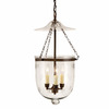 JVI Designs Bell Jar 13-in W Oil-Rubbed Bronze Hardwired Standard Pendant Light with Clear Shade