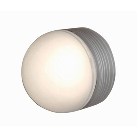 Access Lighting MicroMoon 5-in Satin Outdoor Flush Mount Light