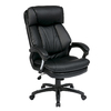 Office Star Worksmart Black Faux Leather Executive Office Chair