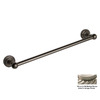 Allied Brass Dottingham Antique Pewter Single Towel Bar (Common: 24-in; Actual: 26.2-in)