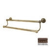 Allied Brass Dottingham Antique Bronze Double Towel Bar (Common: 18-in; Actual: 20.2-in)