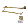 Allied Brass Dottingham Antique Brass Double Towel Bar (Common: 30-in; Actual: 32.2-in)
