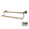 Allied Brass Dottingham Antique Pewter Double Towel Bar (Common: 30-in; Actual: 32.2-in)
