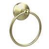 Allied Brass Monte Carlo Satin Brass Wall-Mount Towel Ring