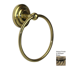 Allied Brass Que New Antique Brass Wall-Mount Towel Ring
