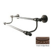 Allied Brass Retro-Dot Antique Bronze Double Towel Bar (Common: 18-in; Actual: 20.8-in)