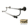 Allied Brass Retro-Dot Antique Brass Double Towel Bar (Common: 24-in; Actual: 26.8-in)